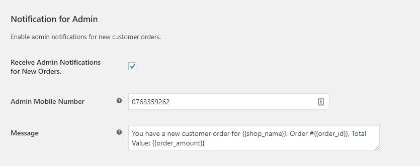 SMS Gateway - WooCommerce Admin Alerts